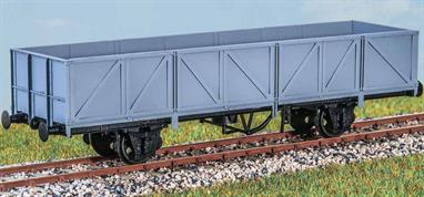 The mid 1960s saw a small fleet of these (diagram 1/028) rebuilt from tube wagons to carry beer casks between breweries and distribution depots. Traffic ended in the late 70s but some survived as barrier wagons. These finely moulded plastic wagon kits come complete with pin point axle wheels and bearings.Glue and paints are required to assemble and complete the model (not included)