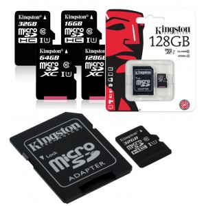 Kingston  16GB MicroSDHC Card Class 10 with adapter SDC16GB