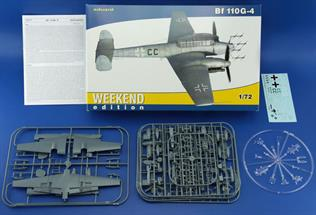 Eduard 1/48 Bf 110G4 German WW2 Nightfighter Weekend Version 7422Glue and paints are required