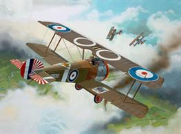 Revell 1/72 Sopwith F1 Camel 04190Model-Details:structural details on surface,filigree struts, movable propeller, 2 Vickers machine guns, bomb rack decals for 1 version.No. of parts 23, Length 78mm , wingspan 120mm.Glue and paints are required