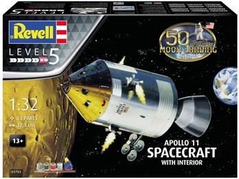 Revell 03703 1/32nd Apollo 11 Spacecraft with Interior Gift Set