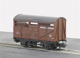 BR bauxite liveried cattle wagon.Three different numbers are available, sub-lettered A B and C. Please indicate any preference at the checkout screen.