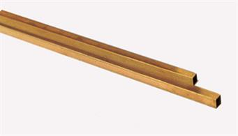 6.35mm (1/4in) square brass tube.5.55mm internal. Pack of 2 lengths each 305mm.