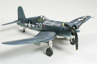 Tamiya 60755 iVought F4U-1 Corsair Kit depicts a final F4U-1A Corsair production version with all improvements or versions at different stages of the improvement process. Parts for 1000lb. bomb, external fuel tank, two types of propellers, and two types of tailwheel are included to provide many modelling possibilities High quality decals for 3 different sets of markings.Glue and paints are required