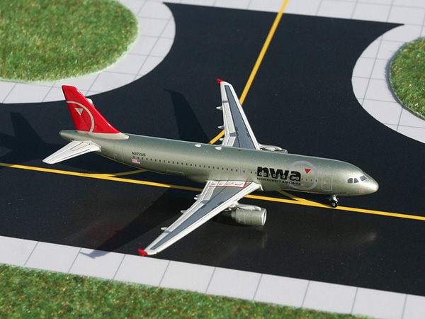 Gemini Jets 1/400 Airbus A320-200 NWA Northwest Airlines Diecast Aircraft Model GJNWA875