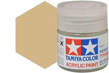 Tamiya XF-78 wooden deck tan, acrylic paint suitable for brush or spray painting.