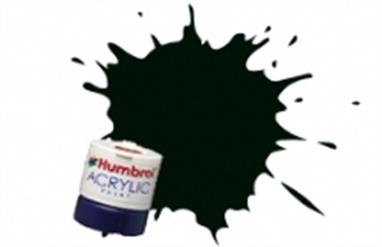 Humbrol 91 Black Green Matt 14ml Acrylic Paint A12/91