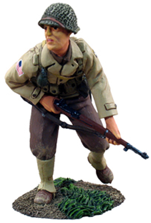W Britain Member of the US 101st Airborne Glider Infantry Regiment advancing<p>On 8th June 1944 elements of the 501st and 506th Parachute Infantry, along with the 1st Battalion, 401st Glider Infantry, engaged a German force in the town of St. C me-du-Mont. The 3d Battalion, 501st PIR, took positions south of the town, along the highway to Carentan where it encountered the enemy. The 1st Battalion, 401st Glider Infantry, was called to aid the 3d Battalion, but the enemy withdrew before the glider troops arrived. Both of the 101st battalions pursued the retreating enemy.</p><p>1/30 Scale</p><p>Matt Finish</p>