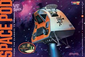 Moebius 1/24 Space Pod From Lost In Space Plastic Kit 901A plastic kit for assembly of the space pod from the classic tale lost In Space.Features detailed interior and opening rear hatch.Glue and paints are required to assemble and complete the model (not included)