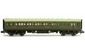 Dapol N Gauge 2P-012-054 Southern Railway Maunsell Design Brake Third Class Corridor Coach 4048 SR Lined Green Livery