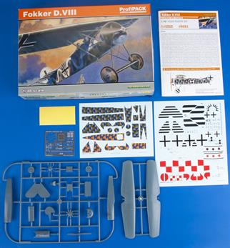 ProfiPACK edition kit of German WWI fighter aircraft Fokker D.VIII in 1/48 scale.