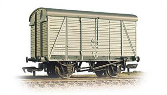 Finely detailed model of the distinctive Southern Railway 2+2 style planked box van, built for the LMS during WWII. The unusual roof outline of these vans has been captured well in this model.