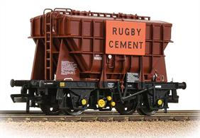 A detailed model of the classic BR Presflo covered hopper wagon finished in BR goods brown livery with Rugby Cement advertising and TOPS lettering.Price to be advised.