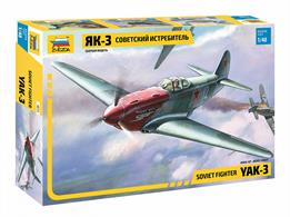 Zvezda 4814 1/48th YAK-3 Soviet Fighter KitNumber of Parts 127   Length 177mm