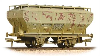 A detailed model of the BR diagram 1/210 covered hopper (COVHOP) wagon. The model, being produced in OO 'ready to run' for the first time, boasts a variety of great prototype detail features including replicated alternative braking systems, separately attached catwalks and filler lids.This model is painted in the light grey wagon livery and lettered for use on soda ash (Sodium Carbonate) traffic.