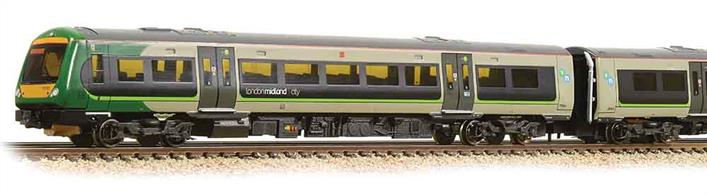 London Midland operated trains across the West Midlands around Birmingham plus stopping services between London Euston and Liverpool until the franchise was re-let in 2017. These stylish 170 units provide comfortable passenger accommodation on long distance services.The Graham Farish model captures the look of these sleek trains, with smooth running and accurately reproduced livery details.