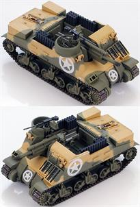 "Hobby Master M7 Priest 105mm HMC 68th Armored Field Artillery Battalion&nbsp;Nettuno, Anzio beach-head, Feb 1944<p>1/72 Scale</p><p>The U.S. Army required a fully-tracked Howitzer Motor Carriage capable of keeping up with armored divisions. The lower chassis and suspension of the M3 Lee and later the M4 Sherman was selected to have a 105mm Howitzer placed on top with a crew area open to the elements. In 1942 the new SPG was delivered as the M7 HMC (Howitzer Motor Carriage). British forces referred to the M7 as the ""Priest"" because of the high rounded .50- caliber Machine Gun position resembled the pulpit of an Anglican priest.</p>"