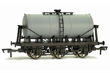 Unpainted Dapol 6 wheel milk tank wagon. Ideal for creating liveries not yet produced by Dapol including milk companies and the small number of other users of these 6 wheel tank wagons from the chemicals and food production sectors.
