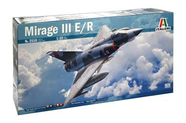 Italeri 2510 1/32nd Large Scale Mirage III Aircraft KitModel length 461mm