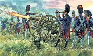 Italeri 1/72 French Imperial Guard Artillery Napoleonic Wars 6135Box contains 16 unpainted figures ,Paints are required to complete the figures (not included)