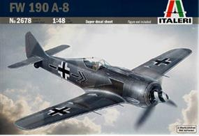Italeri 2678 is a 1/48th scale plastic kit of a German WW2  FW190 Fighter AircraftModel length 182mm