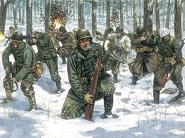 Italeri 1/72 US Infantry Winter Uniform World War 2 Plastic Figure Set 6133Paints are required to complete the figures (not included)