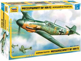Zvezda 4802 1/48th German BF109 Messerschmitt WW2 Fighter AircraftNumbers of Parts 157  Length 217mm