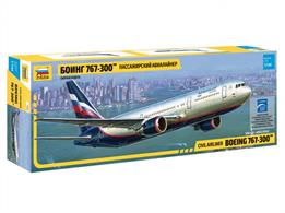 Zvezda 7005 1/144th Boeing 767 Airliner KitNumber of Parts 72 Length 381mm