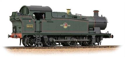 Bachmann Branchline OO Gauge 32-083A BR 6644 ex-GWR 56xx Class 0-6-2T BR Lined Green Late Crest WeatheredFully detailed and fitted with the proven Bachmann drive this model runs as well as it looks.Era 5. DCC Ready. 8-pin decoder required for DCC operation.