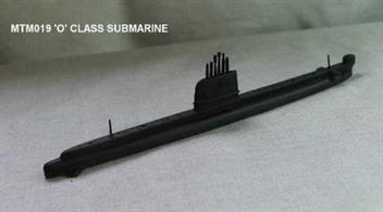 Waterline model kit of the Royal Navy's diesel electric submarine, the Oberon Class Submarine. This . The kit contains a metal hull and conning tower (sail).  Assembly guide and picture also included, although glue and paint will be needed.