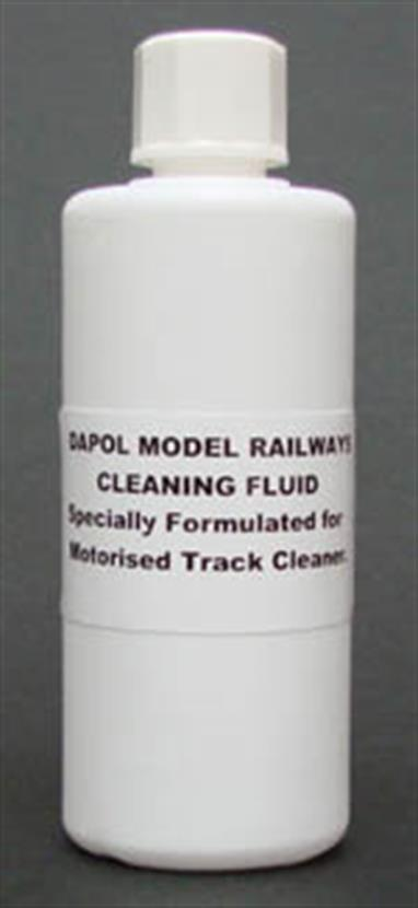 Track cleaning fluid formulated for use with the Dapol B800 and Tomix track cleaning cars. Contains a residue free solvent. 100ml bottle