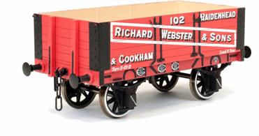 A new detailed model of a 5 plank open wagon following the RCH 1887 specifications and modelled from the production of the Gloucester Railway Carriage and Wagon Company.