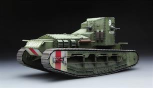 Dimensions - Length 174mm Width 74.8mm.This kit realistically represents exteriors of the real vehicle. Machine guns are movable; the drive sprockets and drive chains are finely reproduced. Cement free track links are included. Decals for three livery schemes are provided. Full instructions are supplied.Glue and paints are required
