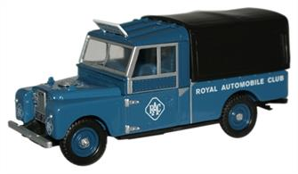 Oxford Diecast 1/76 Land Rover 109 Canvas RAC 76LAN1109004