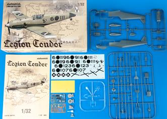 Limited Edition kit of German WWII fighter aircraft Bf 109E  in 1/32 scale.   The kit is focused on Bf 109Es that participated in Spanish Civil War