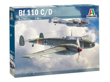 Italeri 2794 1/48th German Bf 110 C/D twin engined fighter