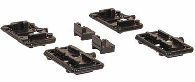 A pack of mounting blocks to hold the NEM coupler pockets, as supplied with Bachmann NEM couplings. These blocks can be used to fit the interchangable NEM couplers to kit built wagons.