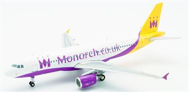 Jet-x JC2501 1/200 Scale Airbus A320 Monarch Airlines - G-OZBK