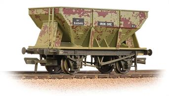 A new version of the 24-ton iron ore hopper wagon. These high capacity wagons were introduced by BR to improve the loading of iron ore trains, allowing higher capacity trains to be utilised, or fewer wagons used to carry the load required.