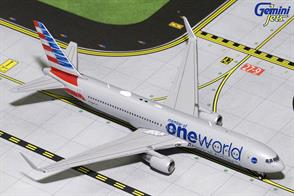 Gemini Jets 1/400 American Boeing 767-300W One World Livery N343AN Diecast Aircraft Model GJAAL1680