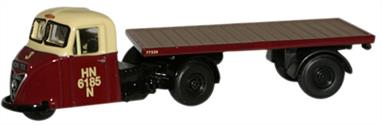 Oxford Diecast 1/76 Scammell Scarab Flatbed British Railways 76RAB006
