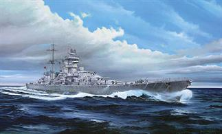 Trumpeter 1/350 Prinz Eugen German WW2 Cruiser With S100 S Boat Plastic Kit 05313Number of parts 595Model Length 607.5mmGlue and paints are required