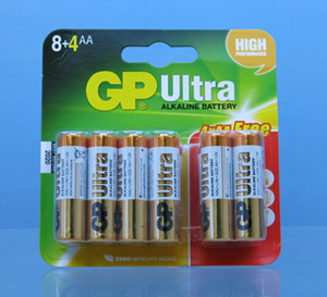 AA Batteries Alkaline Card of 12