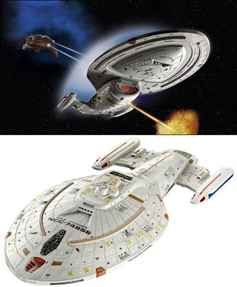 Revell 1/670USS Voyager Star Trek Spaceship Plastic Kit 04801Length 514mmNumber of parts 67Glue and paints are required