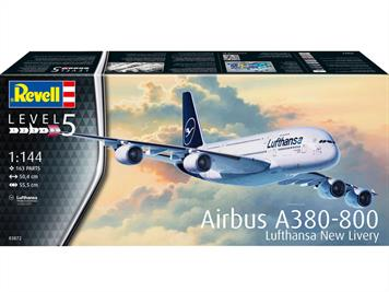 Revell 03872 1/144th Airbus A380 Lufthansa Airliner KitNumber of Parts 163   Length 504mm  Wingspan 555mm