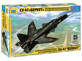 Zvezda 7215 1/72nd Soviet Sukhoi S-37 Plastic KitNumber of parts 55 Length 310mm