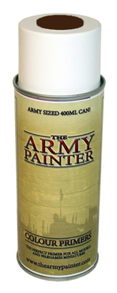 400ml spray can of fur brown primer.Base coat for brown fur clothing, beastmen and animals.