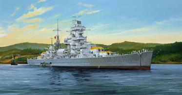 Trumpeter 1/350 Admiral Hipper German WW2 Cruiser 1941 Plastic Kit 05317Number of parts 402Model Length 531mmGlue and paints are required