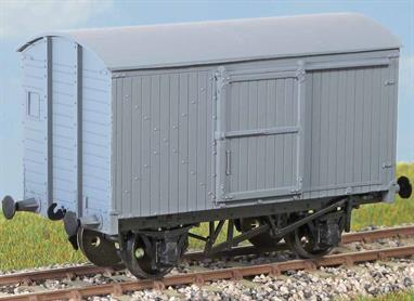 Over 2000 of these vans (diagram 94) were built in the mid 1930s for general goods traffic. Many lasted into the mid 1960s. These finely moulded plastic wagon kits come complete with pin point axle wheels and bearingsGlue and paints are required to assemble and complete the model (not included)