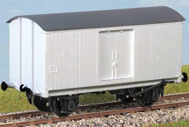 The LNER built almost 2000 of these (diagram 134) in 1938/39 for express fish traffic. This kit represents those rebuilt by BR with insulated bodies and recessed doors. Many lasted into the late 1960s. These finely moulded plastic wagon kits come complete with pin point axle wheels and bearings.Glue and paints are required to assemble and complete the model (not included)